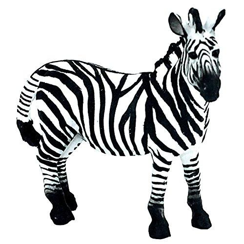 FUNSHOWCASE African Jungle Animals Male Zebra Stallion Toy Figure Realistic Plastic Figurine Height 3.5-inch