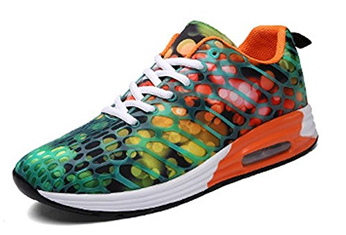 Sneakers Walking Fashion Orange Womens Mens Athletic Shoes Road Casual Unisex Lightweight Running Breathable Lazutom TRgqxwvR7
