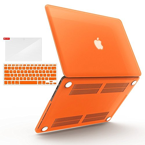 iBenzer Basic Soft-Touch Series Plastic Hard Case Cover for Apple MacBook Pro 15.4-inch 15.4'' with Retina Display A1398 (Previous Generation), Orange