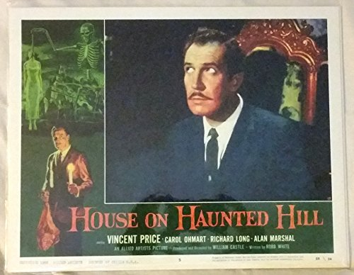 House on Haunted Hill Lobby Card Vincent Price 11 x 14 inches #2
