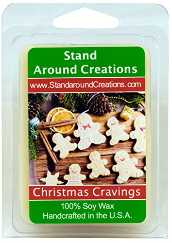 Stand Around Creations 100% Soy Wax Melt Tart - Christmas Cravings: A Wonderful Fragrance Begins w/Notes of Orange, Grapefruit, Lemon, and Apple w/Notes of Cinnamon, Ginger, Carrot, and Nutmeg 3oz.