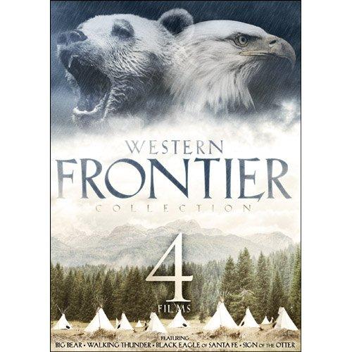 4-Film Western Frontier Collection: Big Bear / Walking Thunder / Sign of the Otter / Black Eagle of Santa (Cardinals Santa)