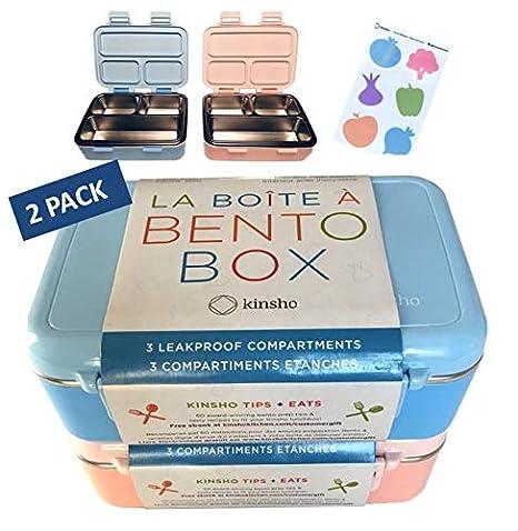 Amazon.com: Fiambreras Bento de acero inoxidable.: Kitchen ...