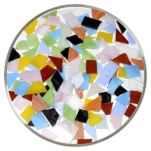 New Hampshire Craftworks Colorful Mosaic Chip Assortment - 10+ Multi Colors (Assortment Tile)