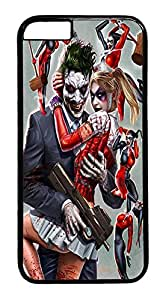 iPhone 6 Case, Joker and Harley Quinn Designer Rugged Hard Plastic Back Case Cover Protector for Apple iPhone 6(4.7INCH) PC Black