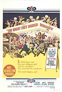 La noche asaltaron minsky Póster de película - 27 x 40 Australia 69 cm x 102 cm en Jason Robards Jr, Britt Ekland Elliott Gould Bert Lahr Norman sabiduría Denholm Elliott