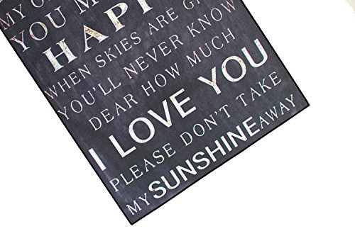 Vintage Phrase Poster Plaque Living Room Bedroom Home Bar Wall Decor You Are My Sunshine You Make Me Happy I Love You Metal Plate Sign