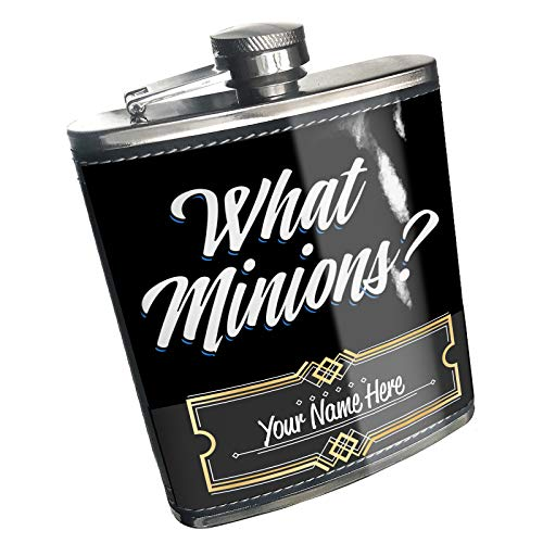 (Neonblond Flask Classic design What Minions? Custom Name Stainless Steel)