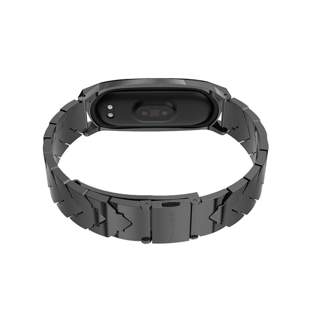 Amazon.com: for Xiaomi Mi Band 4 Metal Band,Stainless Steel ...