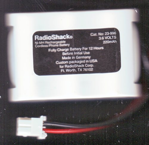 Radio Shack / RadioShack 23-996 Cordless Telephone Nickel-Metal Hydride Rechargeable Battery