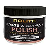 Rolite Brass & Copper Polish (1lb) Instant Polishing & Tarnish Removal on Railings, Elevators, Fixtures, Hotels, Cruise Ships, Office Buildings