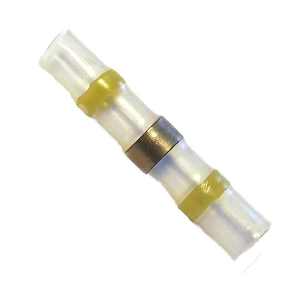 50 Lötverbinder gelb Ø 6 mm Schrumpfverbinder Kabelverbinder Stossverbinder Elek-Tron