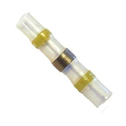 100 de soldadura conector amarillo Diámetro 6 mm conector de cables conectores retráctiles tubo termorretráctil