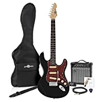 LA II Electric Guitar SSS + Amp Pack Black