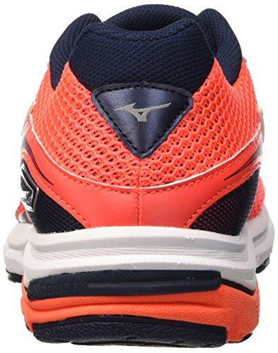 Mizuno Wave Legend - Carrera de competición Hombre Rosso (Fierycoral/White/Dressblues)