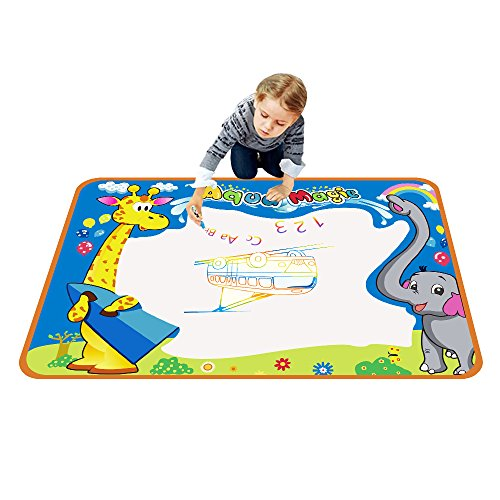 TOYK aquadoodle mat - Kids toy - Water Doodle mat & 3 × Magic Pens - Color Children Water Drawing Mat Board and aquadoodle pen for Kids Doodle learning toy-The best Educational gift (Childrens Educational Toys)