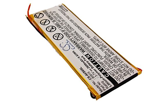 VINTRONS Rechargeable Battery 2600mAh For Archos 80915, 5 250GB