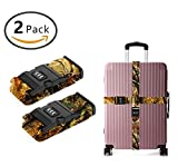 OKAYDECOR Nylon Luggage Strap with Lock Travel Suitcase Belts (Hunting Camo)