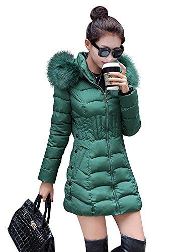 Rela Bota Women's Winter Warm Thickened Coats Long Down Parka Puffer Jacket Outwear XXXX-Large Green