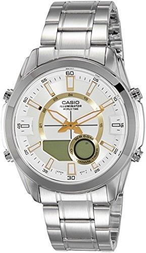 - Casio AMW810D-9AV Men's Stainless Steel Active Dial Watch
