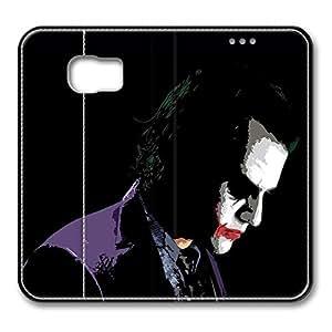 Samsung Galaxy S6 Case, S6 Leather Case - Customized Design PU Leather Wallet Case Flip Cover for Samsung Galaxy S6 The Dark Knight Joker Premium Leather Case for Samsung Galaxy S6