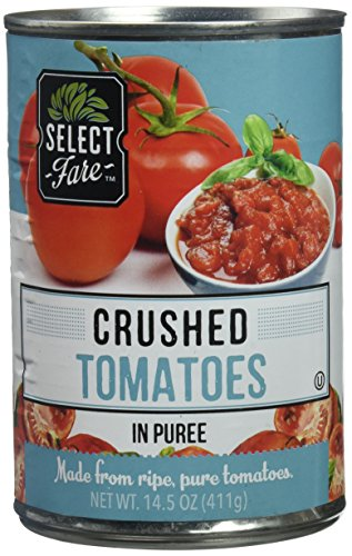 Select Fare Crushed Tomatoes in Puree, 14.5 Ounce (Pack of 12)