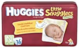 Huggies Little Snugglers Diapers, Newborn, 36-Count (Pack of 2)
