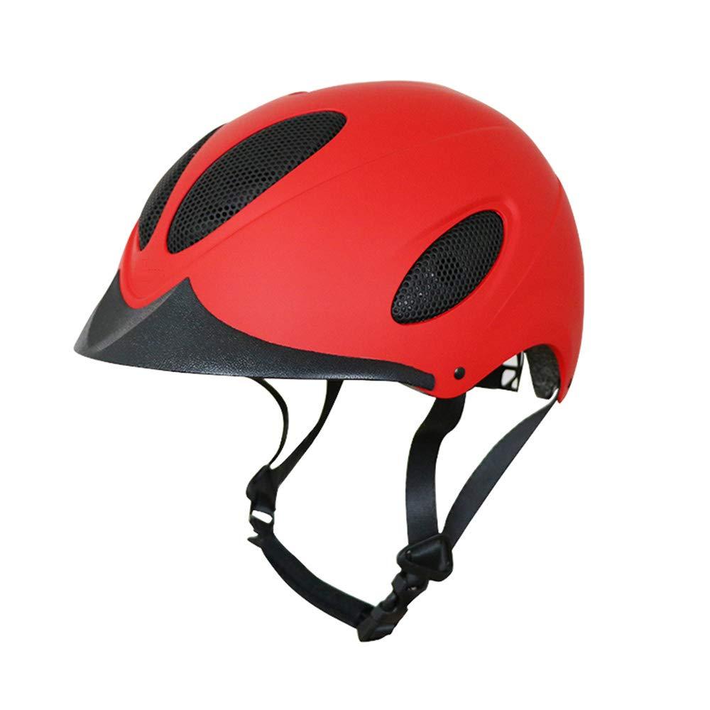乗馬ヘルメット、通気性、吸汗性、タフと耐久性に優れ、馬術ライダーのためのスクーリングの保護ヘッドギア,赤,L 赤 Large