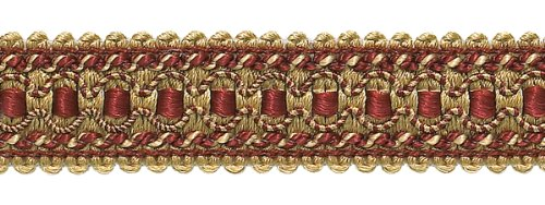- 9 Yard Value Pack of Burgundy Red, Gold 1