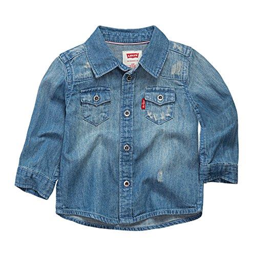 - Levi's Baby Boys Barstow Western Denim Shirt, Memphis, 18M