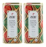 Zoe Extra Virgin Olive Oil 1 Liter tins (Pack of 2), Spanish Extra