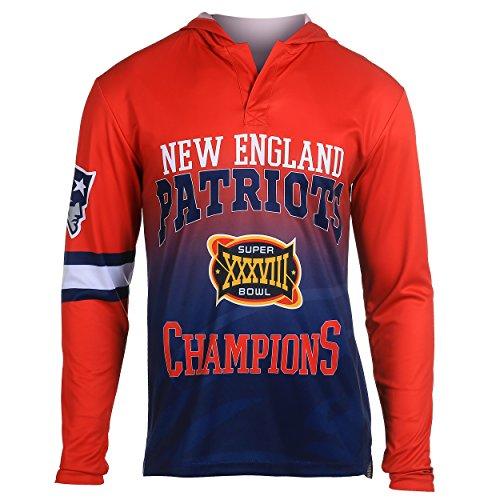 NFL New England Patriots Super Bowl XXXVIII Champions Hoody Tee, X-Large