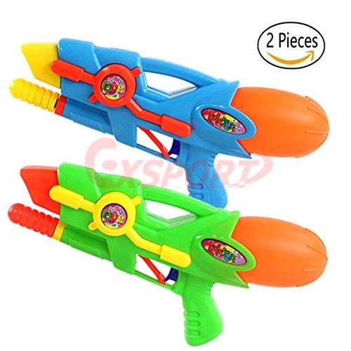EXSPORT 2 Pack Water Gun Super Blaster Water Squirt Gun for Kids, Great Toy for Soaker Squirt Games Hot Summer Water Games