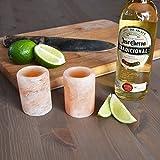 KOVOT Himalayan Salt Shot Glasses Set of 4 - All Natural Tequila Shooters