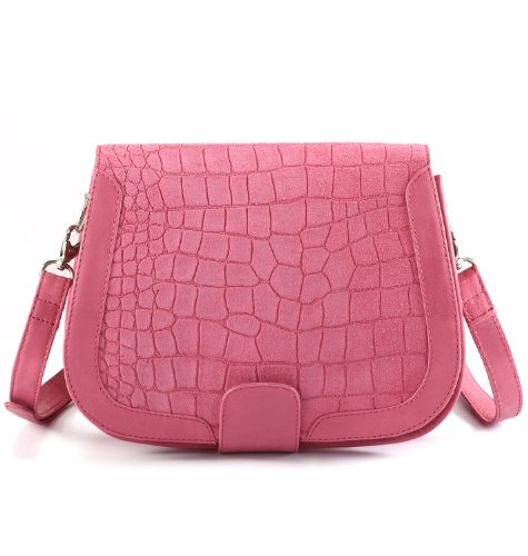 Assots Real Croc leather bag Suede Pink Tabover Real Assots Croc xaA5IqPq