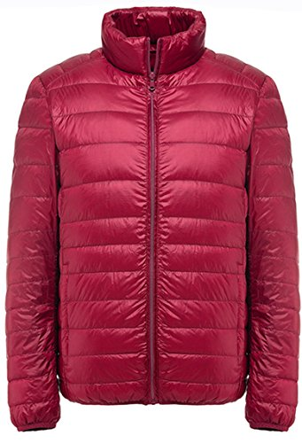 Padded Red Lovache Jacket Mens Coat Packable Down Warm Lightweight nCYpnv