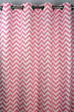 Baby Pink and White Chevron Zig Zag Drape with Blackout Lining, One Grommet Top Curtain Panel 84 inches long x 50 inches wide Review