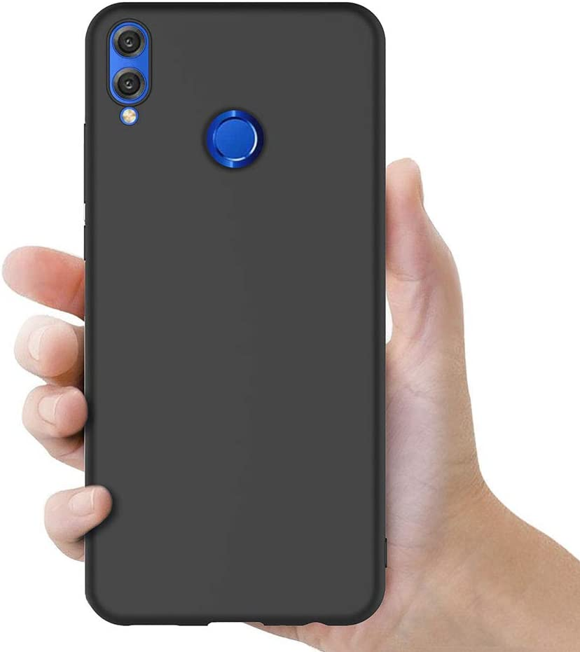 Noir Silicone Coque pour Honor 8X Housse Huawei Honor 8X Noir Silicone Etui Case 6,5 Pouces AICEK Coque Honor 8X