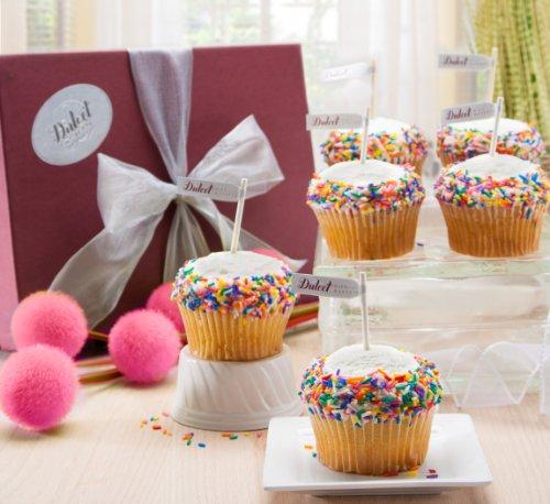 Vanilla Sprinkle Gourmet Cupcakes Gift Basket