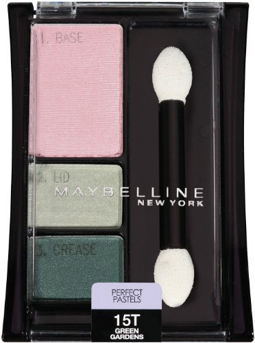 (Maybelline New York Expert Wear Eyeshadow Trios, Perfect Pastels 15T Green Gardens, 0.13 Ounce)