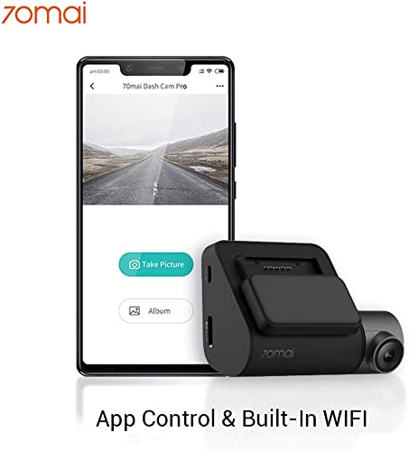 70mai Pro Dash Cam, Car DVR 1944P FHD,Car Video Built-in WiFi, Car Camera Driving Recorder with Night Vision, 140 Wide Angle, Parking Monitor, G-Sensor, Loop Recording, APP Control, Voice Control