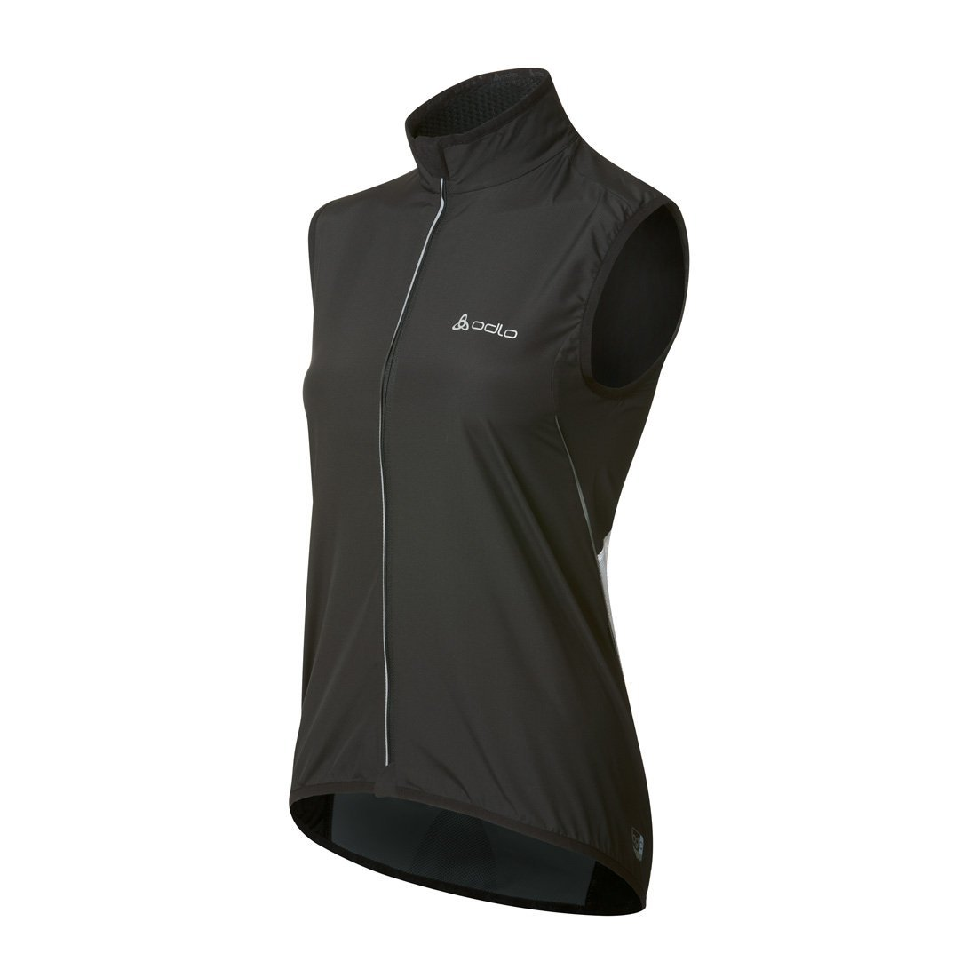 Odlo Women's Vest Flame Cycling Windproof Large Black/White by Odlo (Image #1)