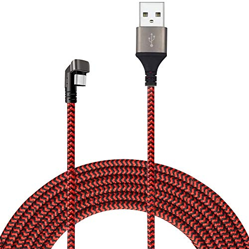 ZENTH 180 Degree T Design USB Type C Cable 3.3ft Nylon Braided USB C Fast Charging Sync Cable for Galaxy S9/S9+/A9s, Note 9/8, Huawei P20/ Mate20, Honor 9/10 etc. (Red)
