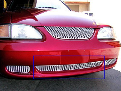 1994-1998 FORD COBRA LOWER GRILLE (Aluminum Silver)