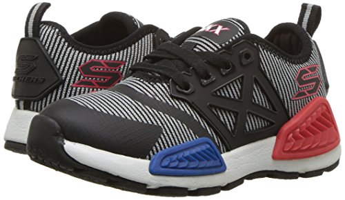 Skechers Boys Kinectors Nanovolt Lace Up Durable Sporty Trainer Shoes Black/Grey