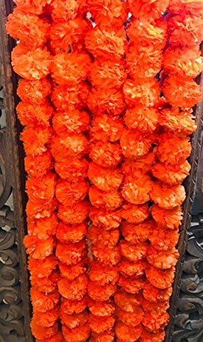 Guirnalda de marigoldo Buycrafty Guirnalda de 5 pies de Largo Boda Juego de 5 Guirnalda de Flores