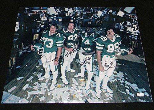 Salaam New York Jets Sack - New York Sack Exchange Signed Jets 16x20 Photo Joe Klecko Gastineau Lyons Salaam