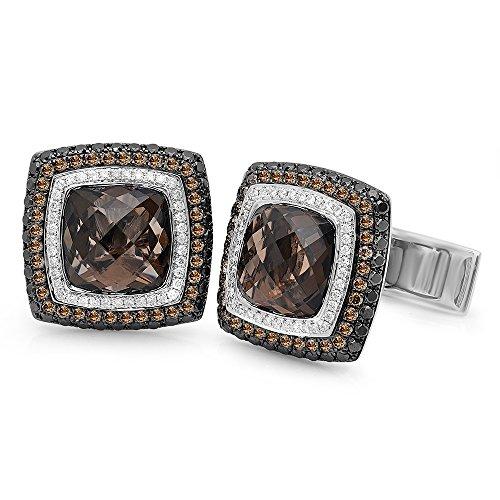 18k Gold 7.15CTW Diamond Cuff Links, (SI2-SI3/H-I)