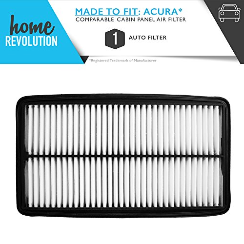 Cabin Rigid Part # A25651 and CA10013 for Acura MDX and Honda Odyssey, Comparable Cabin Panel Air Filter A Home Revolution Brand Quality Aftermarket Replacement