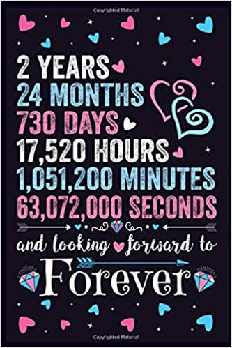 Amazon Com 2nd Wedding Anniversary Journal Gift For Her Wife Couple Valentines Gifts For Him Husband 2 Years Marriage Anniversary Notebook Wedding Anniversary Gifts 9798600196827 Gifts Wedding Anniversary Books